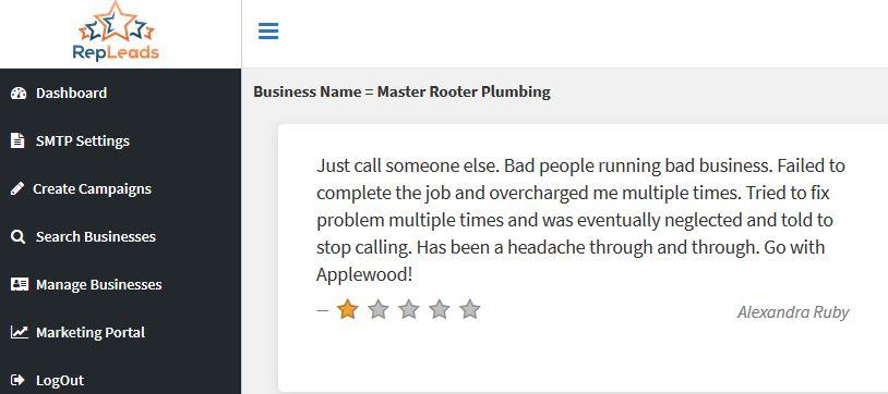 bad review plumber